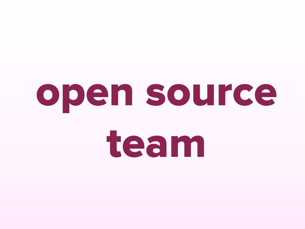 open source team