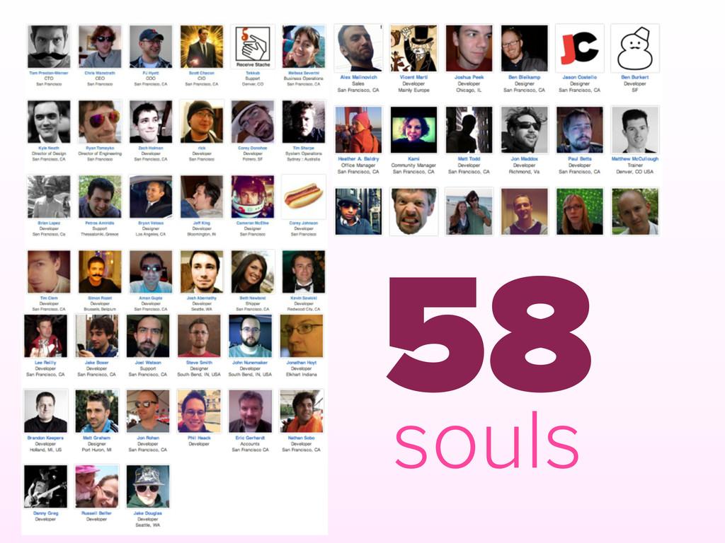 58 souls