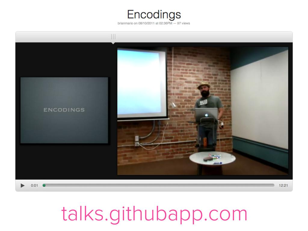 talks.githubapp.com