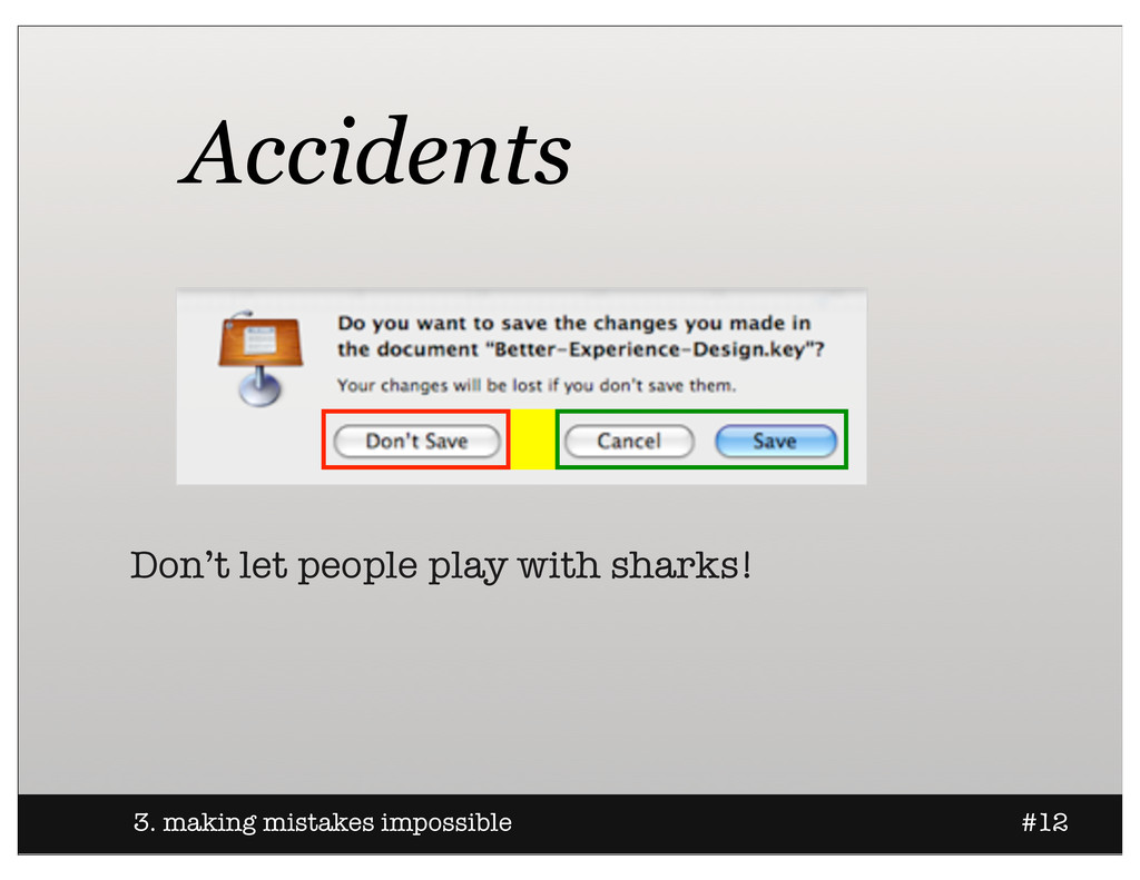 3. making mistakes impossible #12 Accidents Don...