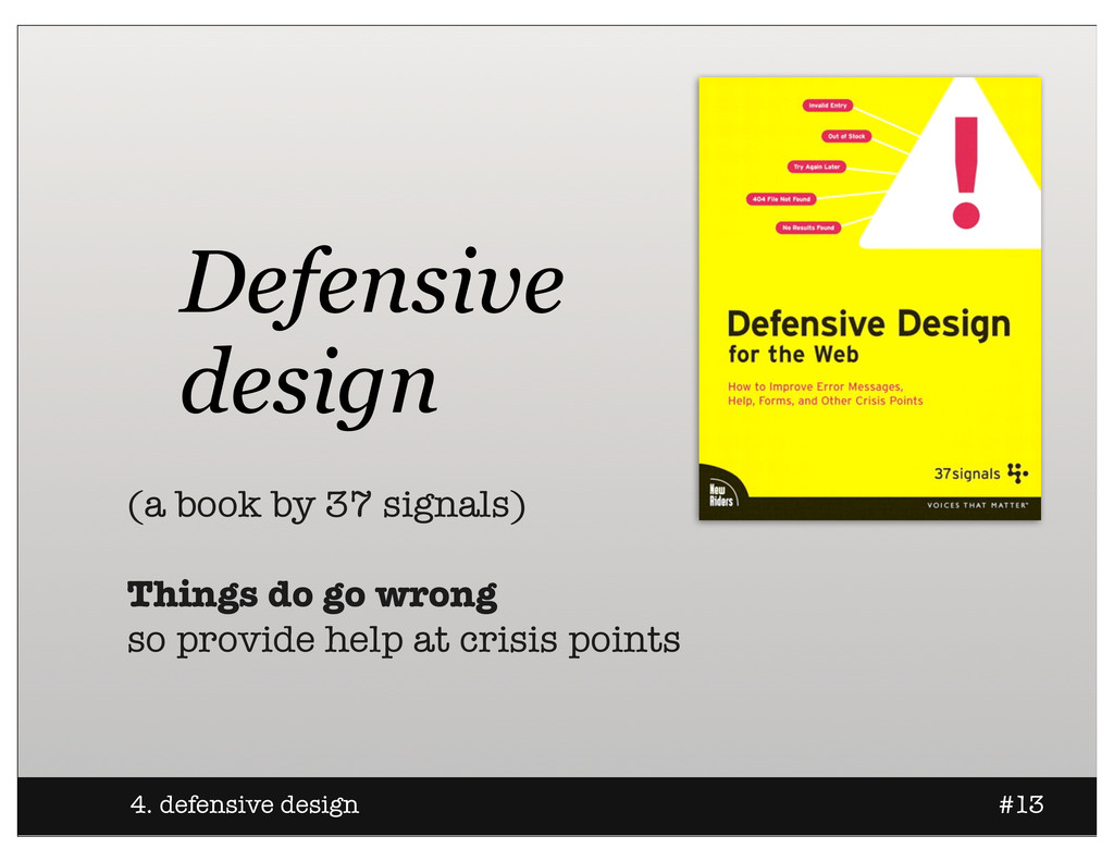 Defensive design (a book by 37 signals) Things ...