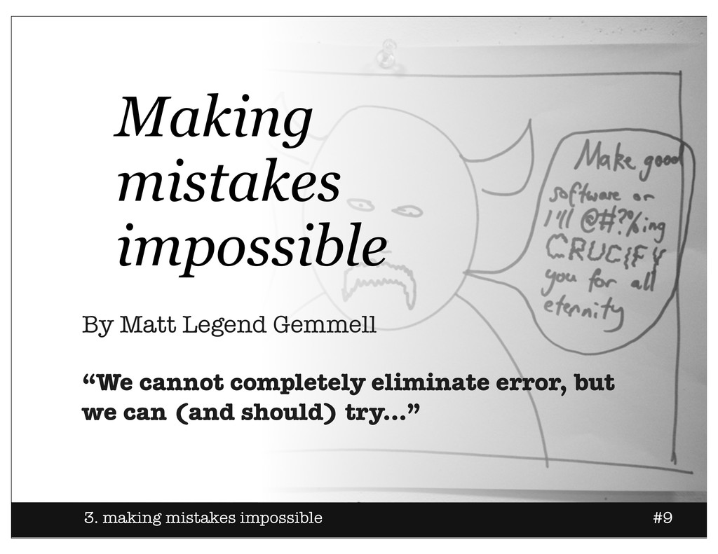 3. making mistakes impossible #9 Making mistake...
