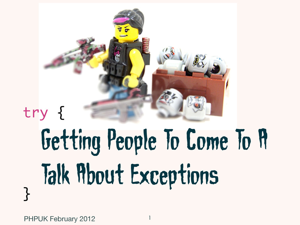 Getting People To Come To A Talk About Exceptio...