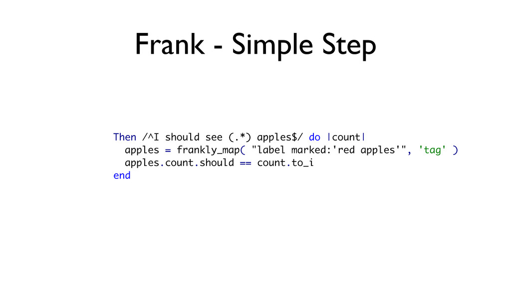 Frank - Simple Step Then /^I should see (.*) ap...