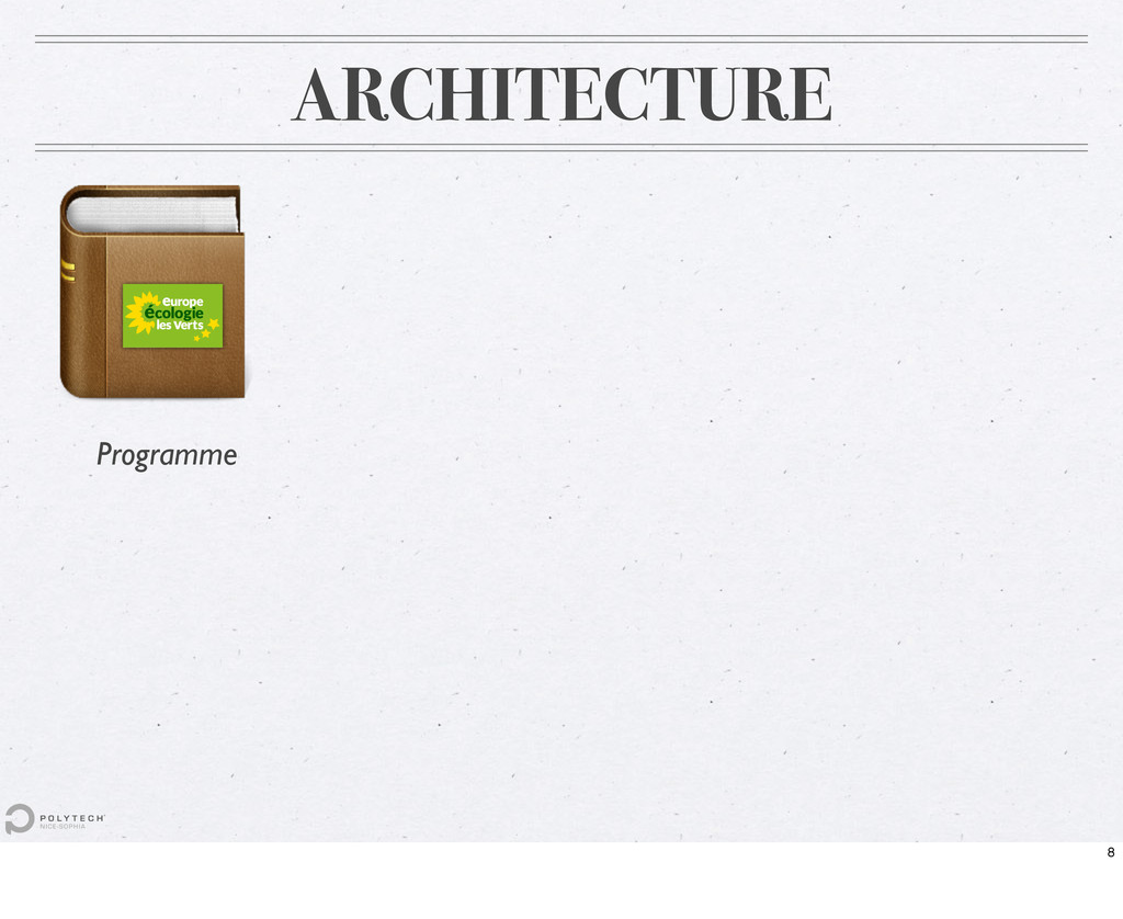 ARCHITECTURE Programme 8