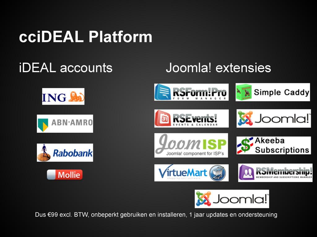 cciDEAL Platform iDEAL accounts Joomla! extensi...