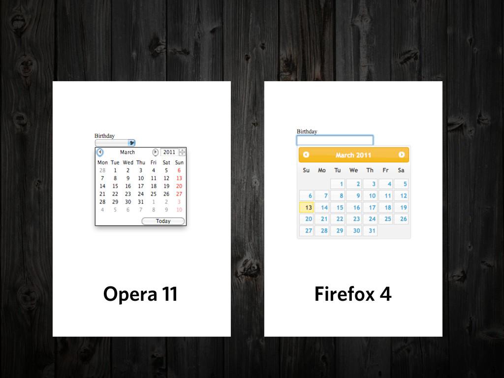 Opera 11 Firefox 4