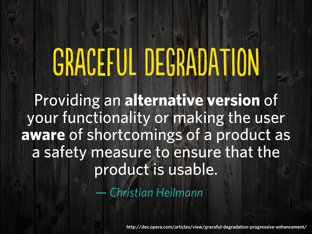 gREfU DeGDaTN Providing an alternative v...