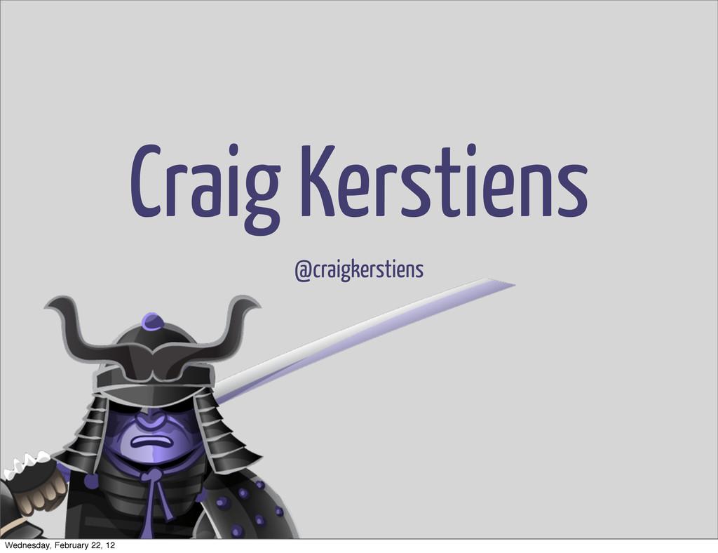 Craig Kerstiens @craigkerstiens Wednesday, Febr...