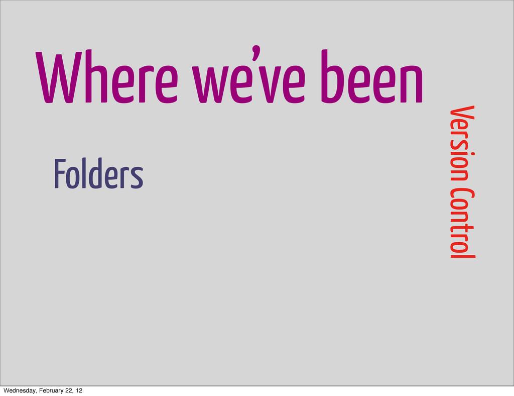 Where we've been Version Control Folders Wednes...