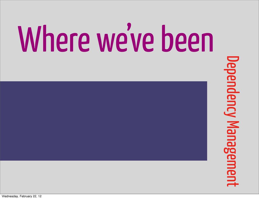 Where we've been Dependency Management Wednesda...