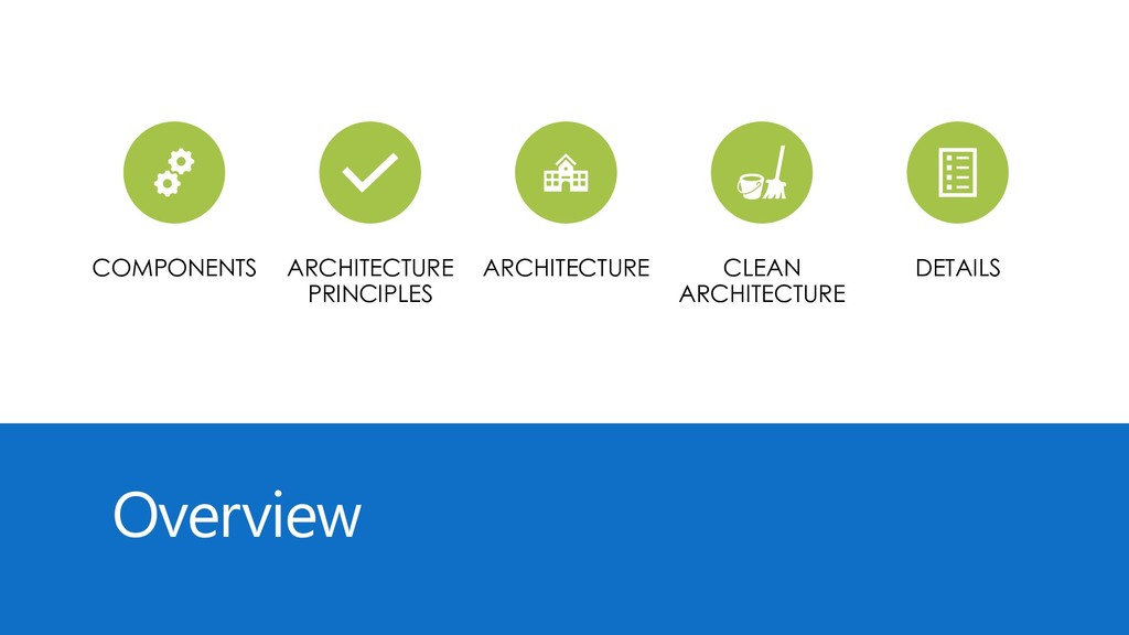 Overview COMPONENTS ARCHITECTURE PRINCIPLES ARC...