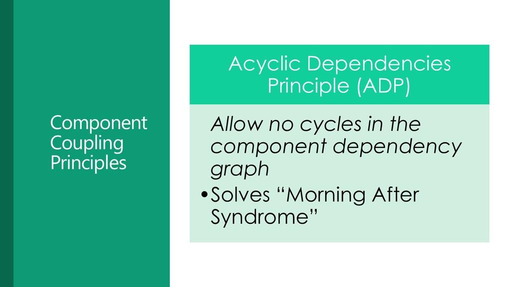 Component Coupling Principles Acyclic Dependenc...