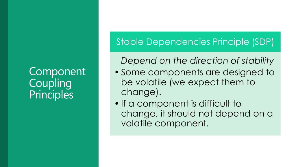 Component Coupling Principles Stable Dependenci...