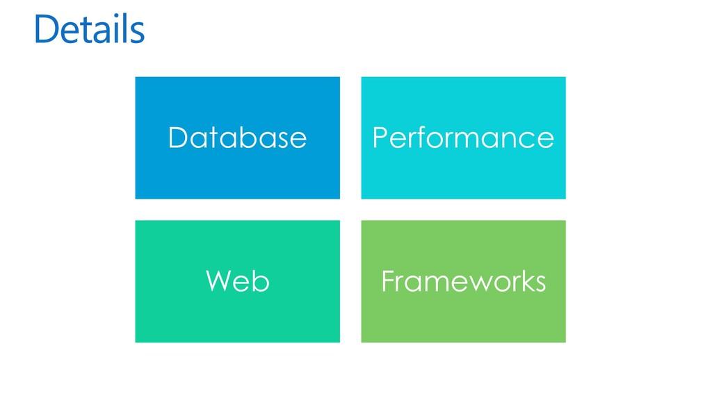 Details Database Performance Web Frameworks