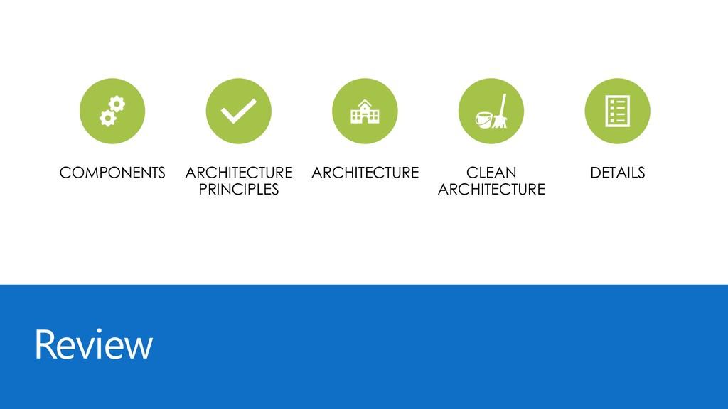 Review COMPONENTS ARCHITECTURE PRINCIPLES ARCHI...