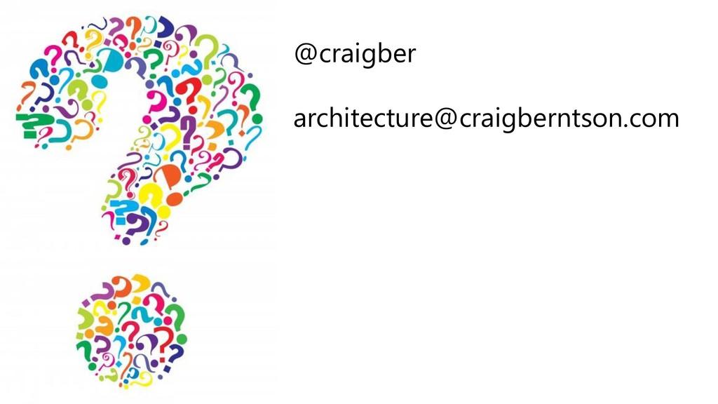 @craigber architecture@craigberntson.com