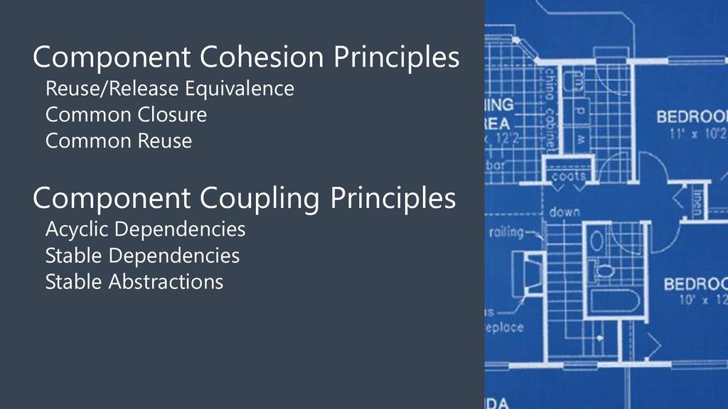 Component Cohesion Principles Reuse/Release Equ...