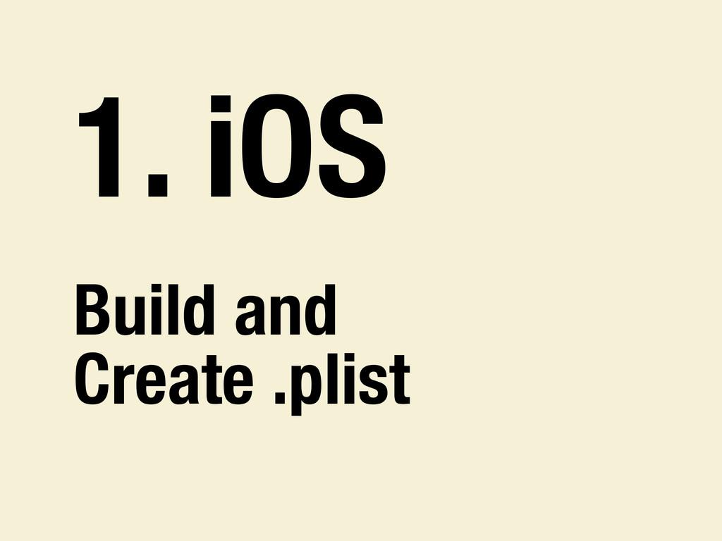 1. iOS Build and Create .plist
