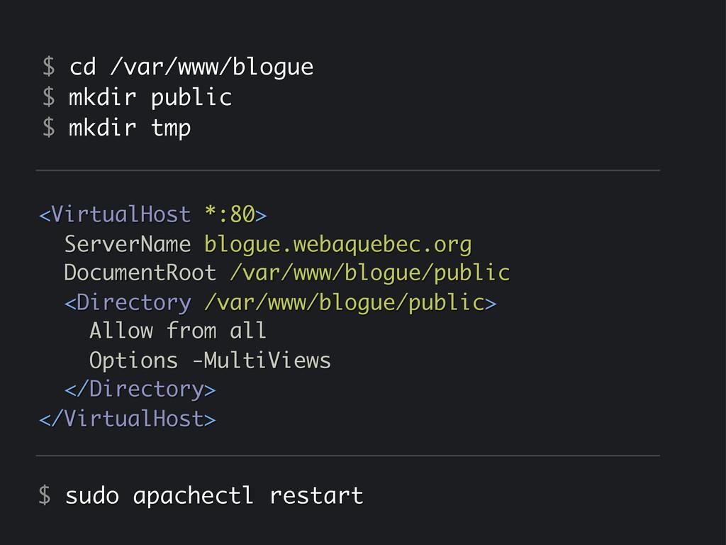 <VirtualHost *:80> ServerName blogue.webaquebec...