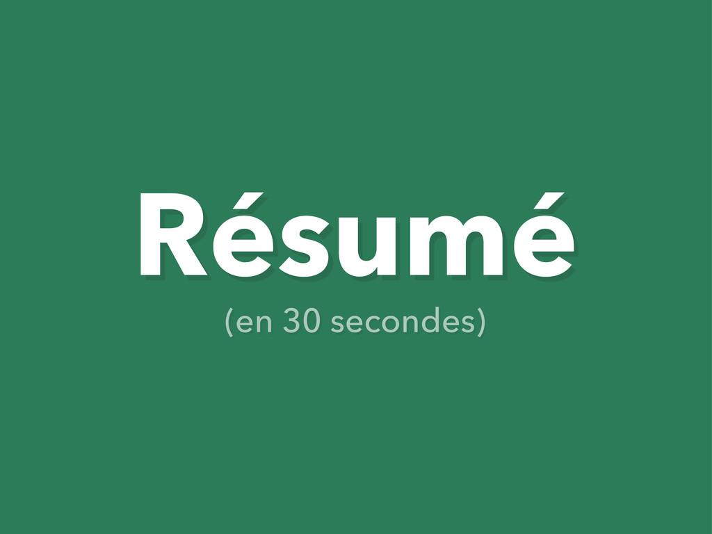 Résumé (en 30 secondes)
