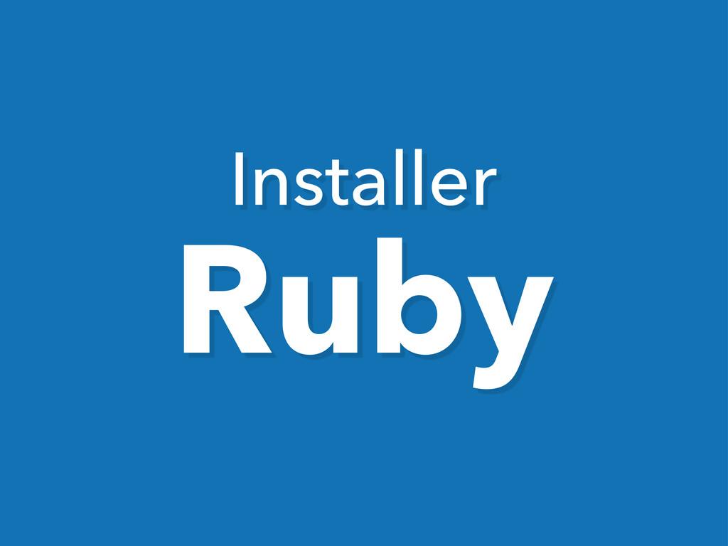 Installer Ruby