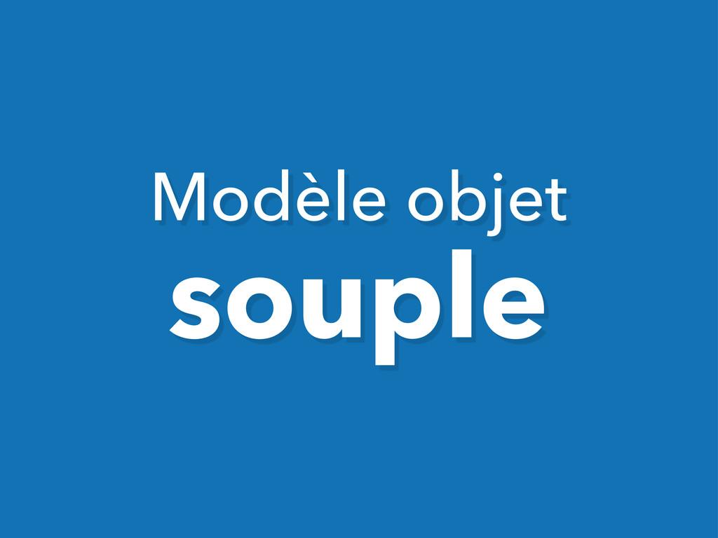 Modèle objet souple