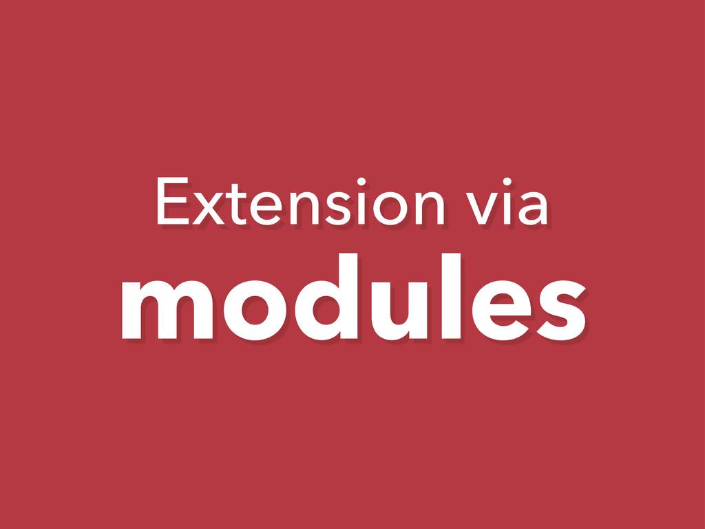 Extension via modules