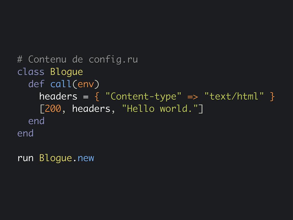 # Contenu de config.ru class Blogue def call(en...