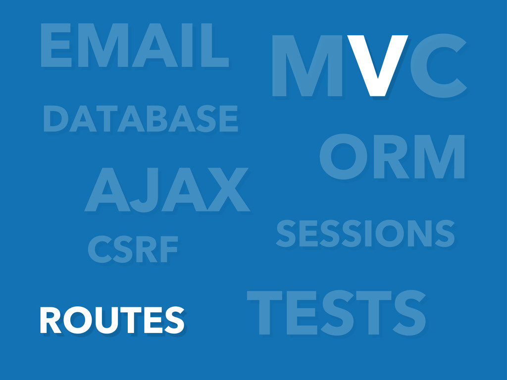 ORM AJAX EMAIL TESTS MVC SESSIONS CSRF ROUTES D...