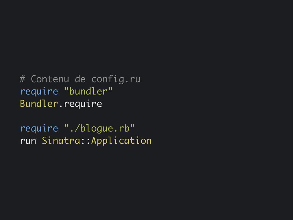 """# Contenu de config.ru require """"bundler"""" Bundle..."""