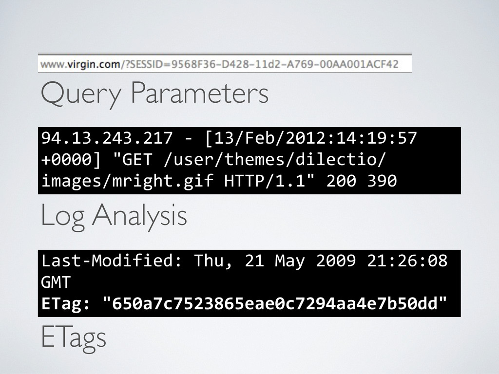 Query Parameters Last-‐Modified: Thu, 21...