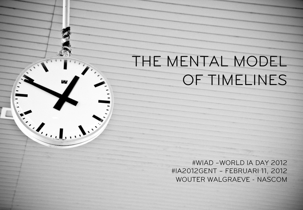THE MENTAL MODEL OF TIMELINES #WIAD –WORLD IA D...