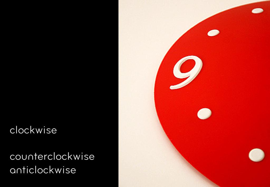 clockwise counterclockwise anticlockwise
