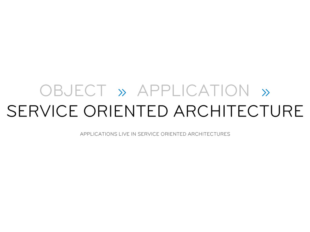 OBJECT » APPLICATION » SERVICE ORIENTED ARCHITE...