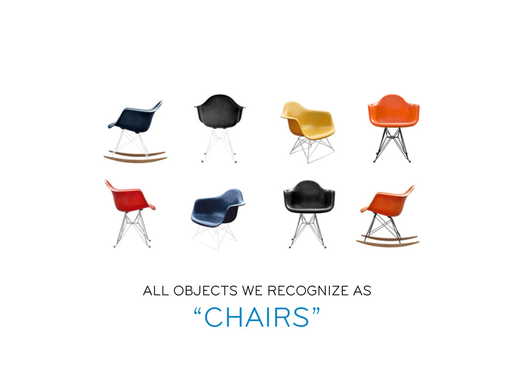 """ALL OBJECTS WE RECOGNIZE AS """"CHAIRS"""""""