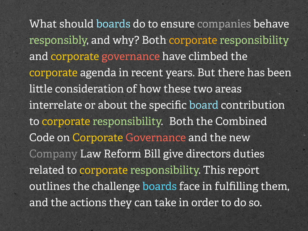 What should boards do to ensure companies behav...