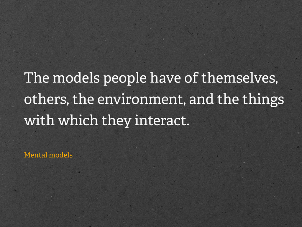 The models people have of themselves, others, t...