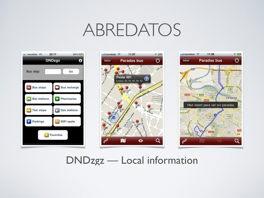 DNDzgz — Local information ABREDATOS