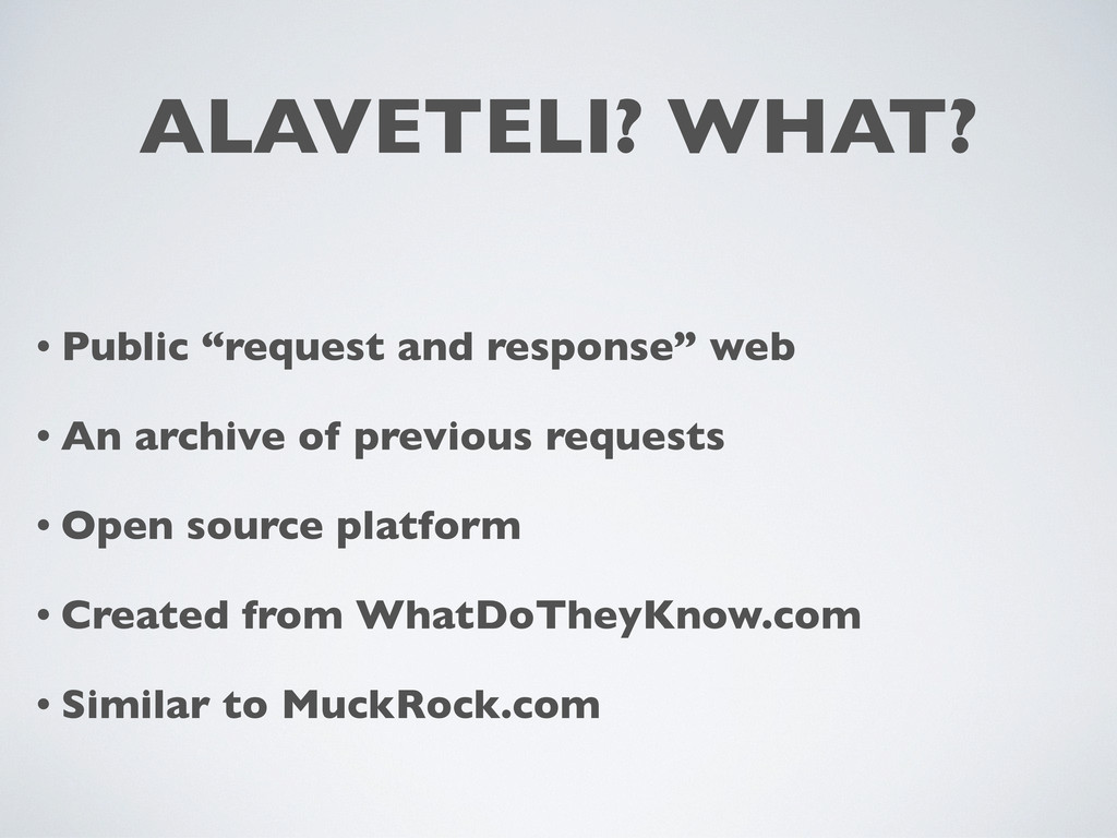 "ALAVETELI? WHAT? • Public ""request and response..."