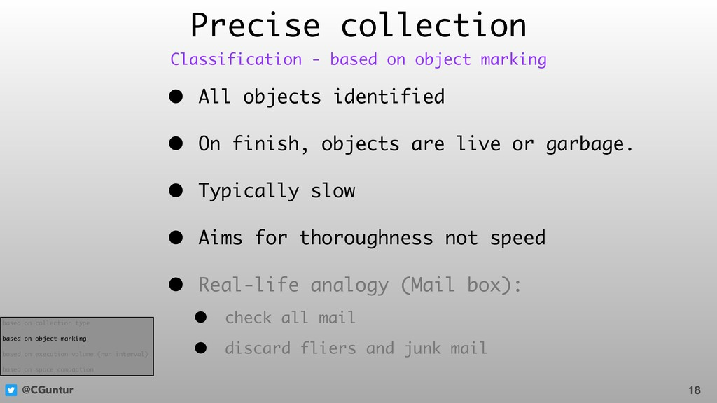 @CGuntur Precise collection • All objects ident...