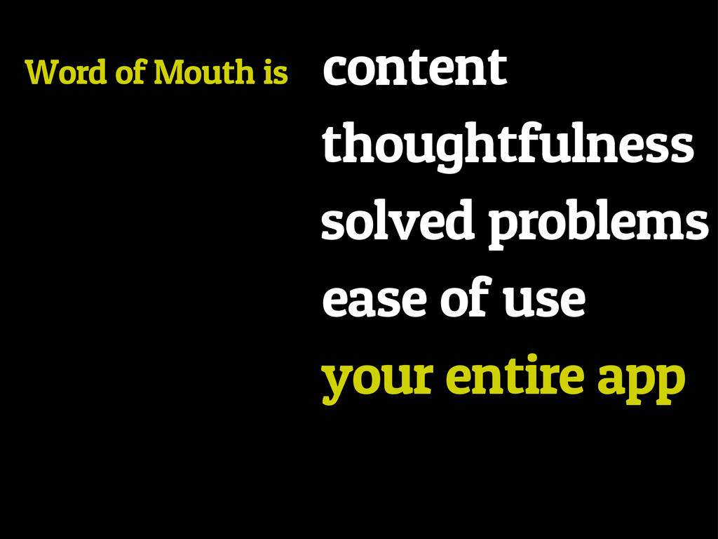 Word of Mouth is content thoughtfulness solved ...