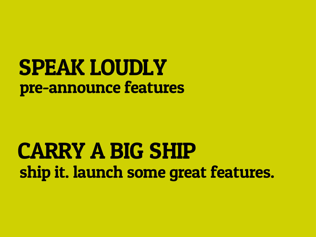 SPEAK LOUDLY pre-announce features CARRY A BIG ...