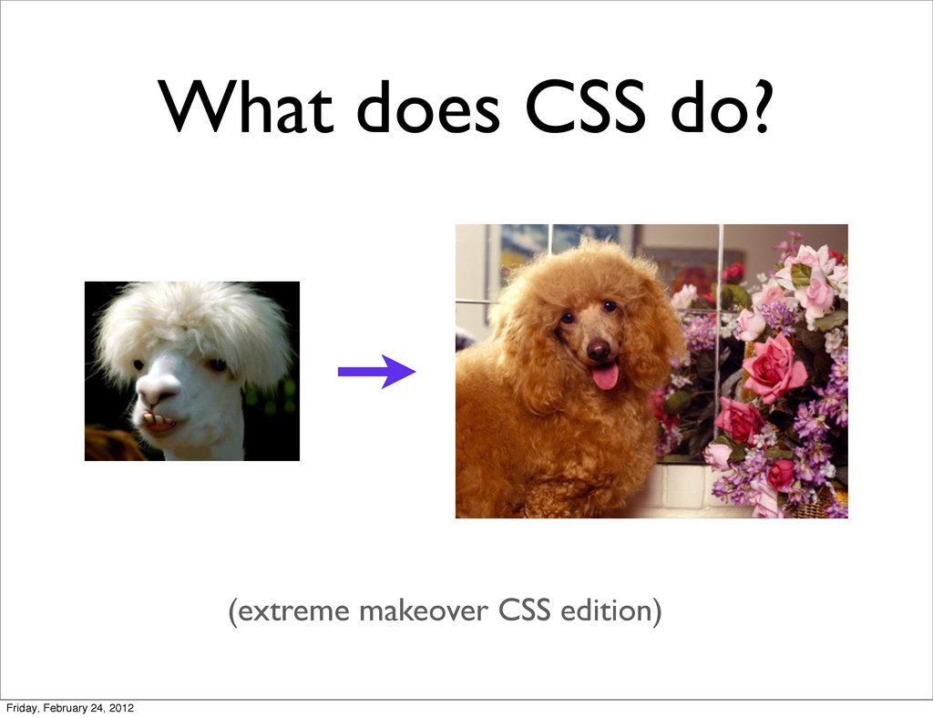 What does CSS do? (extreme makeover CSS edition...