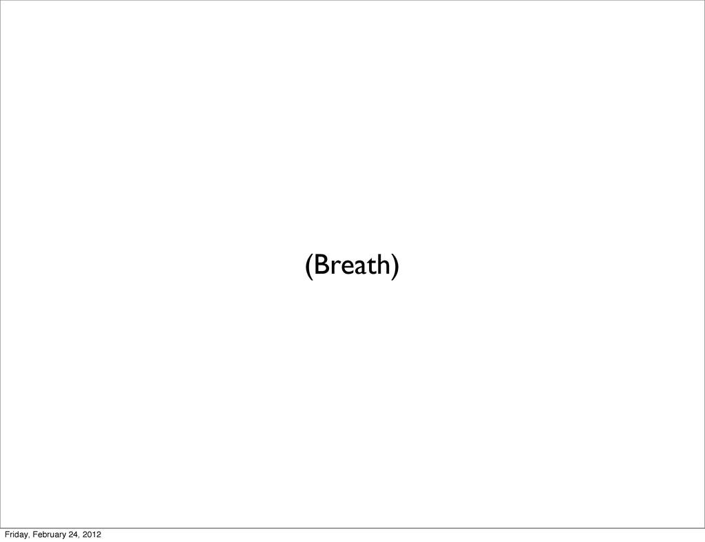 (Breath) Friday, February 24, 2012