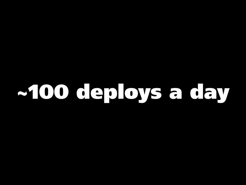 ~100 deploys a day