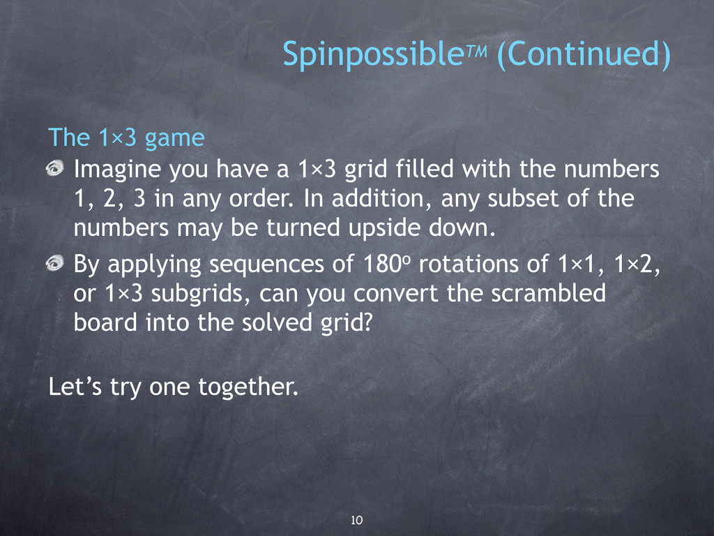10 The 1×3 game Imagine you have a 1×3 grid fil...