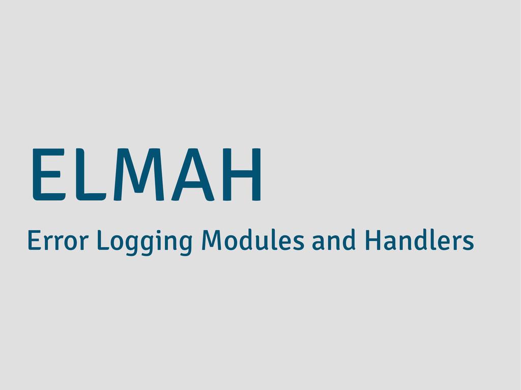 ELMAH Error Logging Modules and Handlers