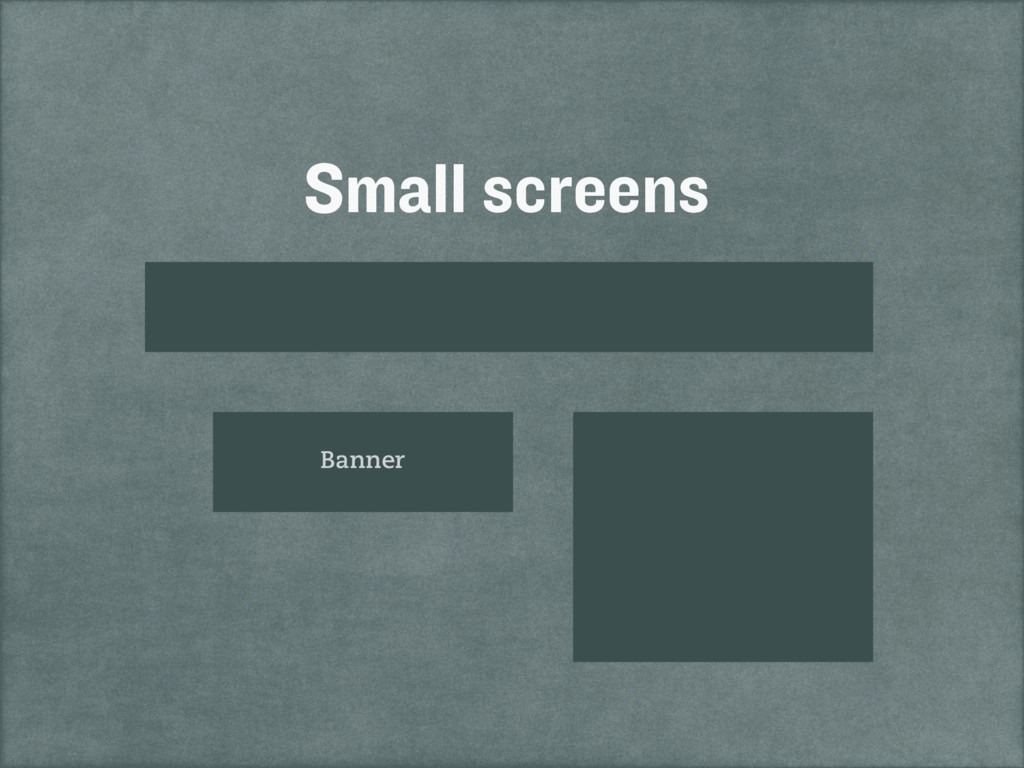 Small screens Banner