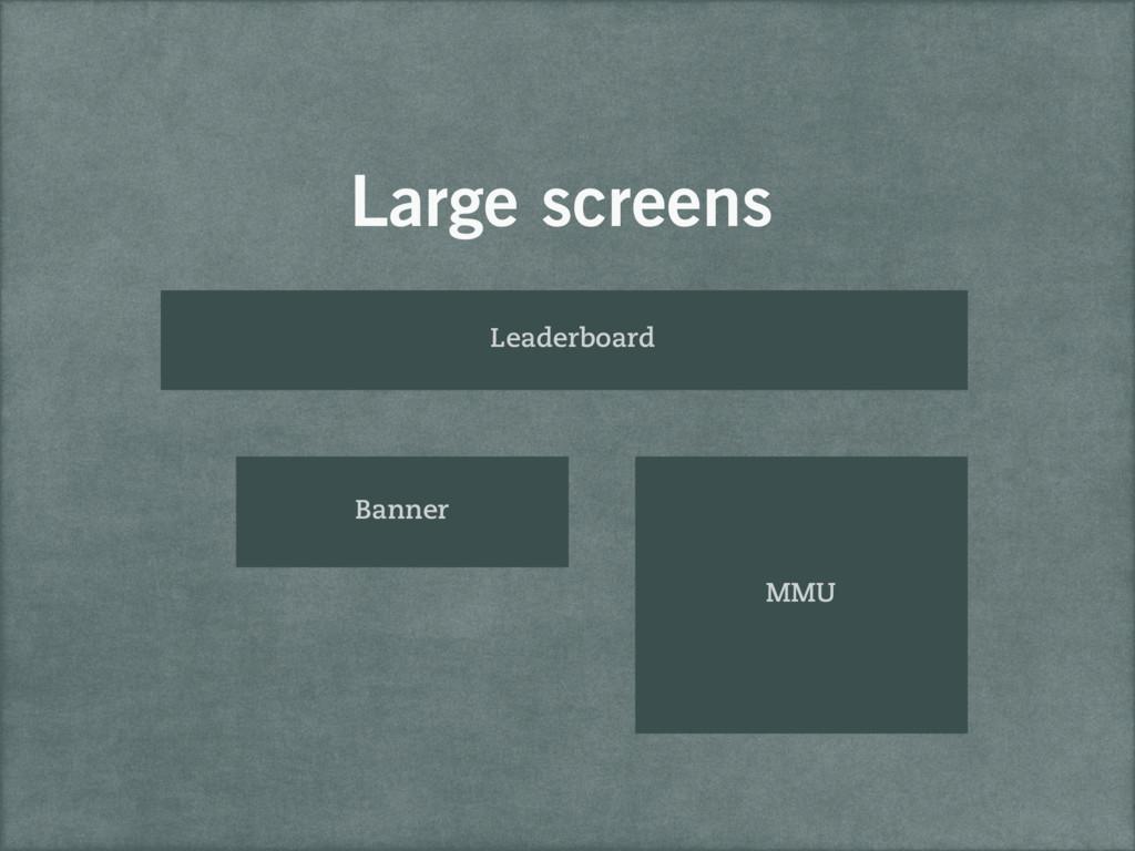 Large screens Leaderboard Banner MMU